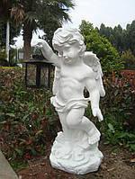 Садова скульптура Ангел з лампою 36x32x82 cm