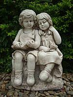 Садовая скульптура Читающие мальчик и девочка 37.5x28.5x53.5 cm