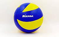 Мяч волейбольный Клееный PVC MIK MVA-300 (PVC, №5, 5 сл., клееный)