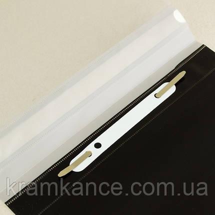 Скоросшиватель пластик. А4 LEO 3620 серый/черный, фото 2