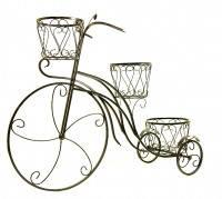 """Подставка под цветы """"Велосипед"""" (облегченный металл)"""