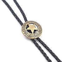 Галстук Bow Tie House боло - Звезда шерифа (галстук шнурок бола) - медного цвета 09050