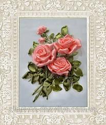"""Набор для вышивания атласными лентами """"Коралловые розы"""""""