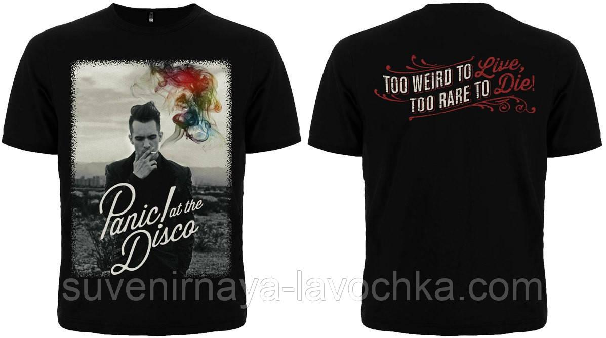 "Рок футболка Panic! at the Disco ""Too weird to live, too rare to die"""