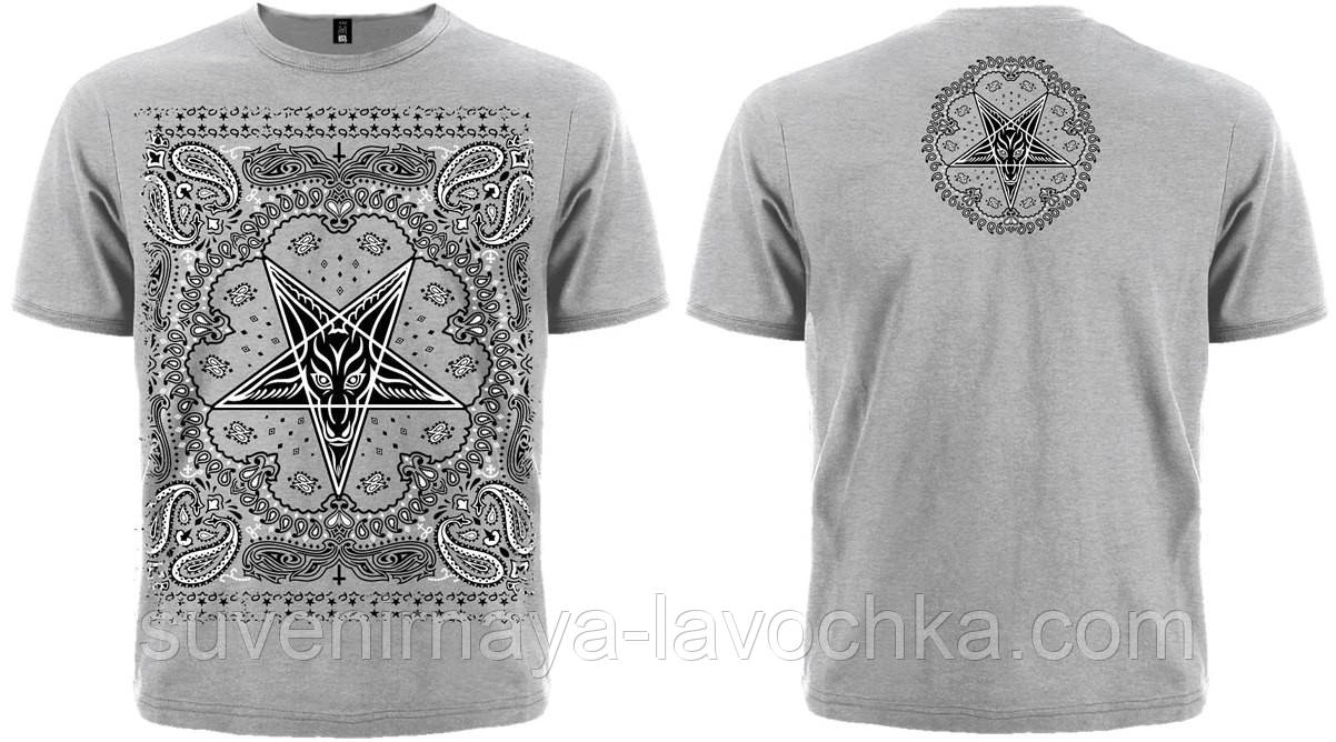 Рок футболка Пентаграмма (бандана (меланж))