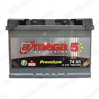 Автомобильный аккумулятор A-mega Premium 6ст-74 А/ч (0) M5 760En