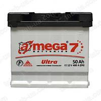 Аккумулятор автомобильный A-mega ULTRA 6ст-50 А/ч (0) 480En