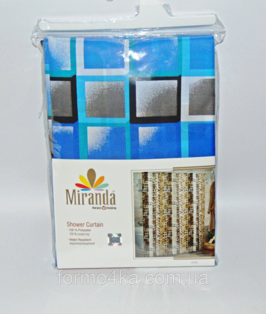 Штора для ванной комнаты MIRANDA Kare blue