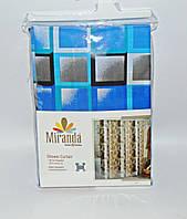 Штора для ванной комнаты MIRANDA Kare blue, фото 1