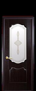 Дверь межкомнатная ВЕНЗЕЛЬ СО СТЕКЛОМ САТИН И РИСУНКОМ