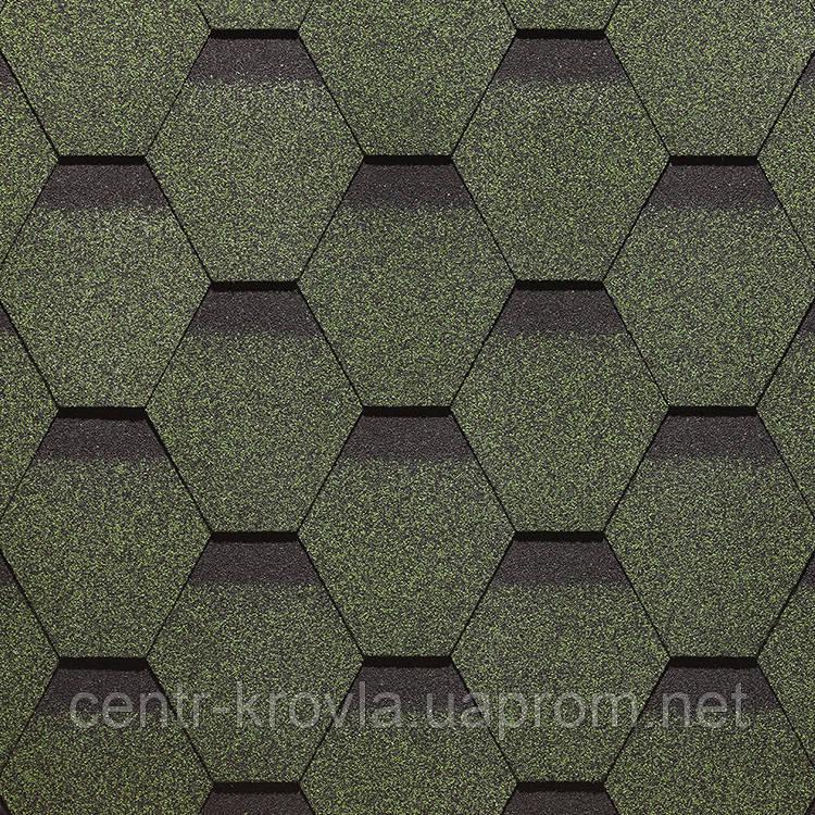 Бітумна черепиця Docke PIE SIMPLE 1000х318 мм  СОТА Зелений  Вінниця