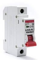 Выключатель автоматический 1П, 10А, характеристика С, Enext e.mcb.stand.45.1.C10, s002007