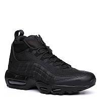 Мужские кроссовки Nike Air Max 95 Sneakerboot All Black Реплика, фото 1