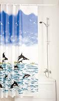 Штора для ванной комнаты MIRANDA black dolphin, фото 1