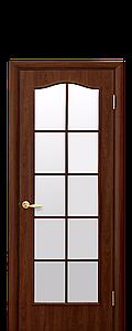 Дверь межкомнатная КЛАССИК СО СТЕКЛОМ САТИН ВИТРАЖ ПВХ