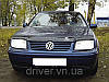 Дефлектор капота (мухобойка) Volkswagen Bora 1998-2004, на крепежах
