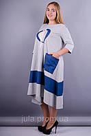 Лола платье универсальное аппликация из кружева