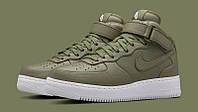 """Кроссовки женские NikeLab Air Force 1 Mid """"Urban Haze""""  Найк аир форсе высокие"""