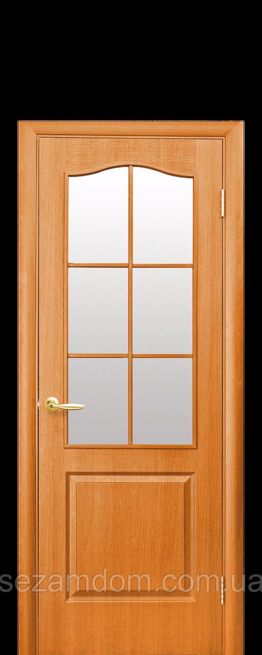 Дверь межкомнатная КЛАССИК СО СТЕКЛОМ САТИН ПВХ