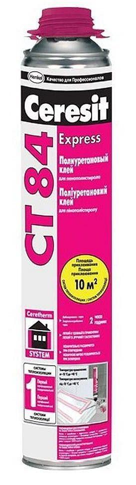 Клей полиуретановый для пенополистирола Ceresit CT 84 Express, 850 мл