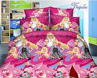 Детское полуторное постельное белье для девочки, Куклы Барби