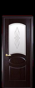 Дверь межкомнатная ОВАЛ СО СТЕКЛОМ САТИН И РИСУНКОМ
