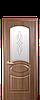 Дверь межкомнатная ОВАЛ СО СТЕКЛОМ САТИН И РИСУНКОМ, фото 2