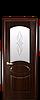 Дверь межкомнатная ОВАЛ СО СТЕКЛОМ САТИН И РИСУНКОМ, фото 3