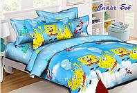 Детское полуторное постельное белье Спанч Боб