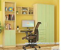 Симба набор для детской №2 (Мебель-Сервис)  береза+зеленый