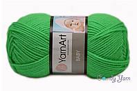 Турецкая пряжа YarnArt Baby ярко-зеленый №8233