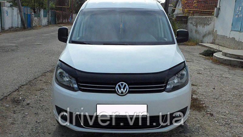 Дефлектор капота (мухобойка) Volkswagen Caddy 2010-