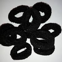 Резинки для волос, черная,(упаковка 100шт)