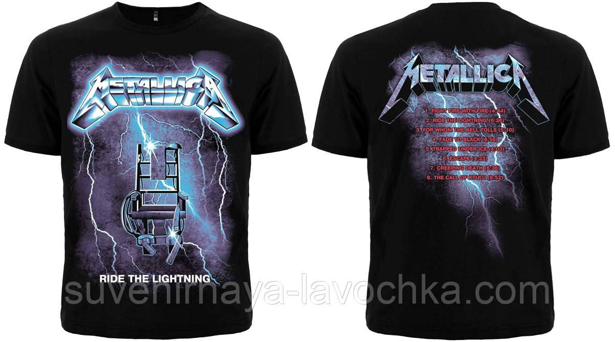 "Рок футболка Metallica ""Ride The Ligtning""."