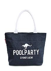 Женская джинсовая сумка POOLPARTY синяя