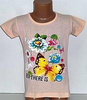 """Детская одежда оптом. Футболка """"Бабочка"""" для девочек 4,5,6,7,8 лет"""