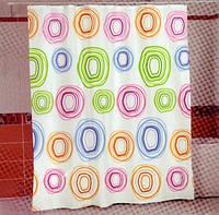Штора для ванной комнаты MIRANDA color circle, фото 1