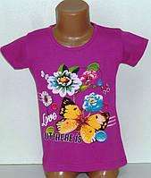 Детская одежда оптом.Футболка для девочек 4,5,6,7 лет