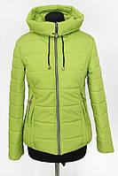 Женская куртка весна-осень салатового цвета