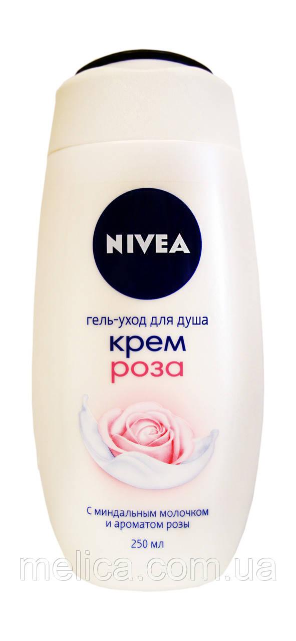 Гель-уход для душа Nivea Крем Роза с миндальным молочком и ароматом розы - 250 мл.