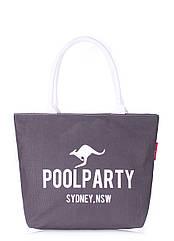 Женская джинсовая сумка POOLPARTY серая