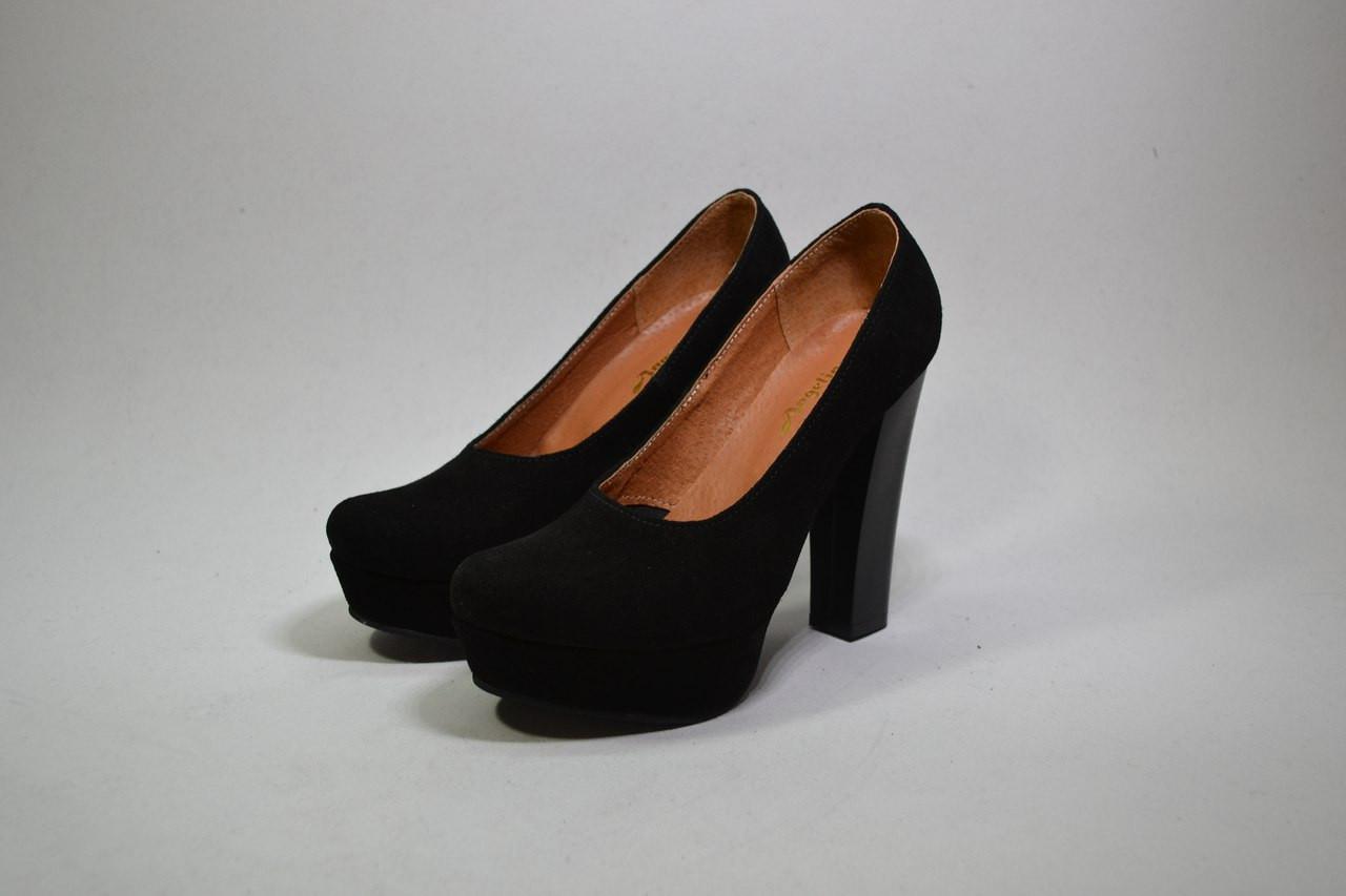 39b0b73ddeba Женские туфли на высоком каблуке натуральная замша или кожа размеры 35-41