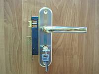 Ручка дверная Gelaris 815 золото + сатин