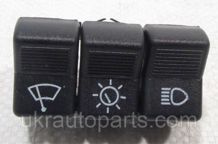 Переключатель 3-х клавишный ВАЗ 2101-2107 Тройная клавиша ЖИГУЛИ Блок выключателей (П134)