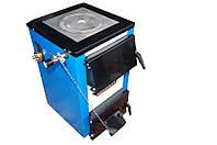 Котел твердотопливный комбинированный стальной  Tehni-x КОТ-15-У-П (плита) премиум -твёрдое топливо и электро