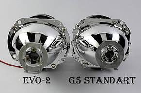 """Биксеноновые линзы Moonlight Evo 2 (2.5"""") с глазами CCFL, фото 2"""