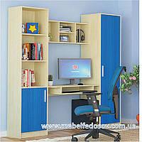 Симба набор для детской №4 (Мебель-Сервис) береза+синий