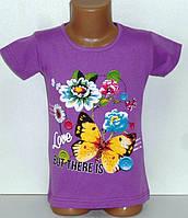 Детская одежда оптом.Футболка для девочек 4,6 лет
