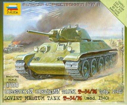 Советский средний танк Т-34/76 (обр 1940г)