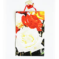 Подарочный пакет Средний узкий 16х25х7см   Розы
